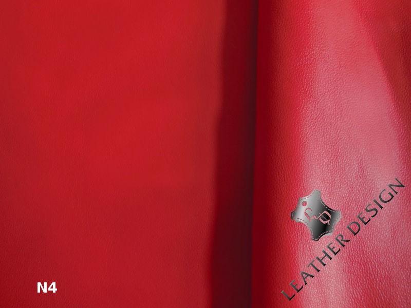 Skora naturalna licowa czerwona. Skóry naturalne licowe sprzedaż - Leather-design.pl