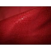 Skóra naturalna licowa odzieżowa czerwona