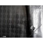 Kurtka ze skory naturalnej czarna -Skora naturalna czarna cienka_ skóra naturalna odziezowa czarna z delikatną fakturą- Skora naturalna czarna w Leather-design.eu