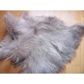 Naturalne futerko z królika jasno szare