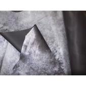 Ekskluzywna skóra naturalna dwustronna czarna/srebrna - skóra naturalna odzieżowa-skóry naturalne w Leather-design.eu