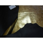 Ekskluzywna skóra naturalna złota z super połyskiem-skóra naturalna kaletnicza dwustronna-skóry naturalne w Leather-design.eu
