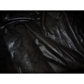 Bluzka ze skóry naturalnej czarna- Ekskluzywna, cienka skóra naturalna czarna zamszowa cienka z przeznaczeniem na: bluzki, tuniki, sukienki i inne-Leather-design.eu