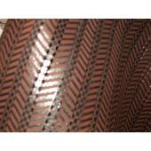 Skóra naturalna brązowa ze złotymi elementami , skóra kaletnicza wzór - skory naturalne kaletnicze, skóry naturalna wycinana laserowo w Leather-design.eu