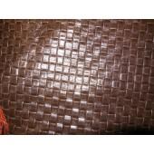 Skóry kaletnicze - Skóra naturalna brązowaefektowna przeplatanka - Skóra naturalna brązowa wzór w Leather-design.eu