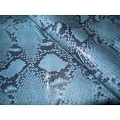 Skóra naturalna kaletnicza wzór węża niebieska - skory naturalne kaletnicze.w Leather-design.eu