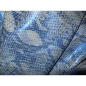Skóra naturalna niebieska wzór węża - skory naturalne sprzedaz w Leather-design.eu