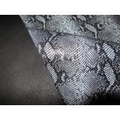 Ekskluzywna i niepowtarzalna skóra naturalna kaletnicza z motywem węża na torebkę , kosmetyczkę i inne - Skóry naturalne kaletnicze włoskie w Leather-design.eu