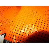 Skóra naturalna pomarańczowa dwustronna , skóra naturalna perforowana, skóra naturalna sprzedaż - Leather-design.eu