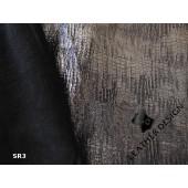 Srebrna, cienka srebrna skóra naturalna licowa - Sukienka ze skóry naturalnej srebrna. Ekskluzywne skóry naturalne włoskie w Leather-design.eu